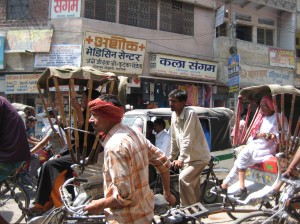 Typical Hot Indian Street (Varanasi)
